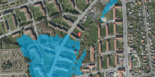 Oversvømmelsesrisiko fra vandløb på Arnold Nielsens Boulevard 11, st. tv, 2650 Hvidovre