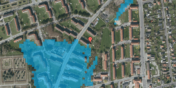 Oversvømmelsesrisiko fra vandløb på Arnold Nielsens Boulevard 11, 1. tv, 2650 Hvidovre