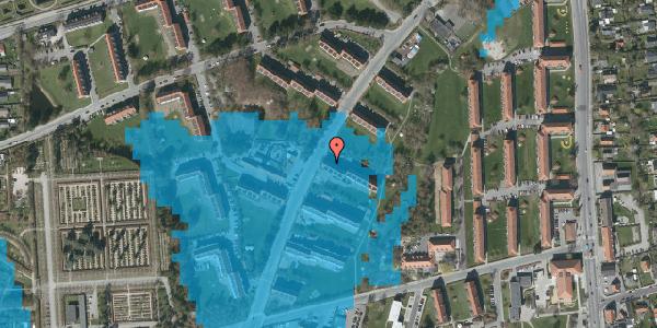 Oversvømmelsesrisiko fra vandløb på Arnold Nielsens Boulevard 13, 2. tv, 2650 Hvidovre