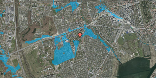 Oversvømmelsesrisiko fra vandløb på Arnold Nielsens Boulevard 14, 1. th, 2650 Hvidovre