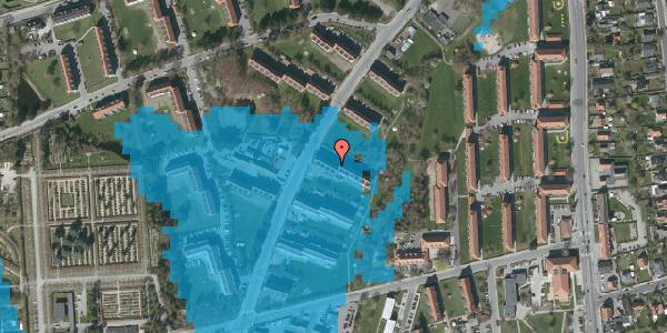 Oversvømmelsesrisiko fra vandløb på Arnold Nielsens Boulevard 15, st. tv, 2650 Hvidovre
