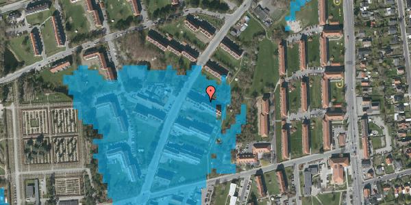 Oversvømmelsesrisiko fra vandløb på Arnold Nielsens Boulevard 17, 2. tv, 2650 Hvidovre