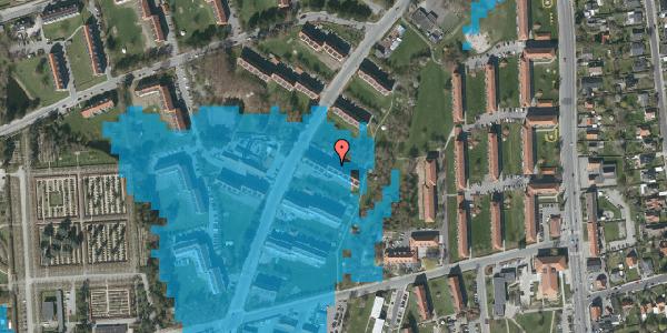 Oversvømmelsesrisiko fra vandløb på Arnold Nielsens Boulevard 17, 3. tv, 2650 Hvidovre