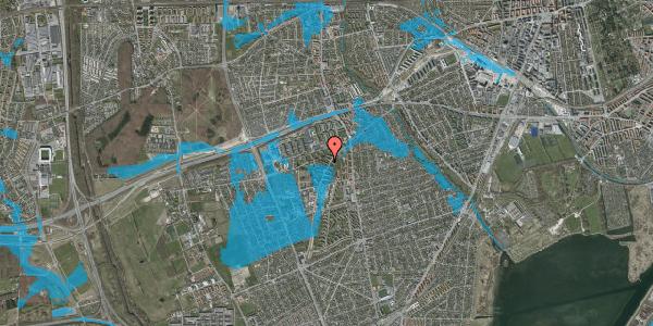 Oversvømmelsesrisiko fra vandløb på Arnold Nielsens Boulevard 18, 2. tv, 2650 Hvidovre