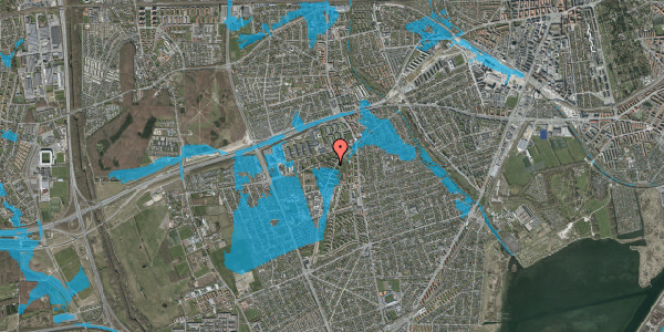 Oversvømmelsesrisiko fra vandløb på Arnold Nielsens Boulevard 18, 3. tv, 2650 Hvidovre