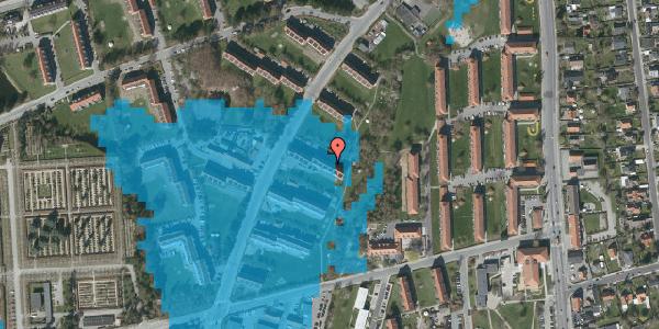 Oversvømmelsesrisiko fra vandløb på Arnold Nielsens Boulevard 19, 1. th, 2650 Hvidovre