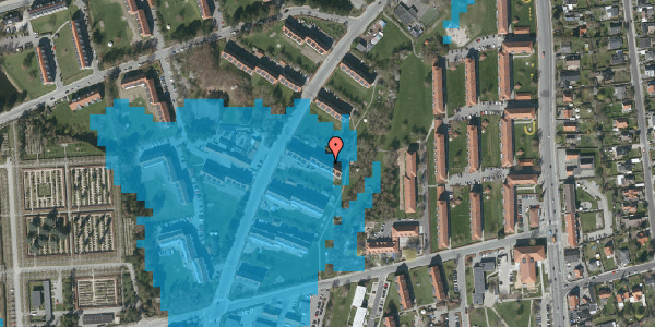 Oversvømmelsesrisiko fra vandløb på Arnold Nielsens Boulevard 19, 2. tv, 2650 Hvidovre