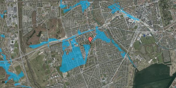 Oversvømmelsesrisiko fra vandløb på Arnold Nielsens Boulevard 20, 2. tv, 2650 Hvidovre