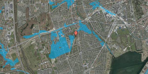 Oversvømmelsesrisiko fra vandløb på Arnold Nielsens Boulevard 21, 2. th, 2650 Hvidovre