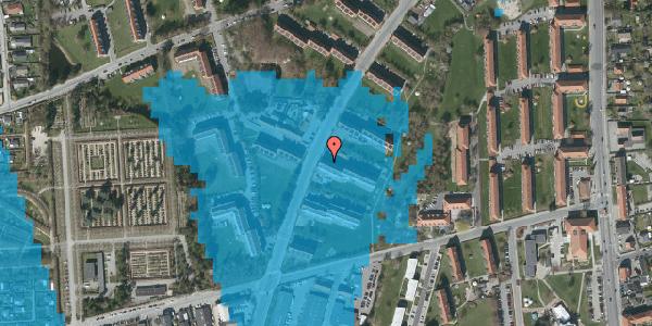 Oversvømmelsesrisiko fra vandløb på Arnold Nielsens Boulevard 23, 3. th, 2650 Hvidovre
