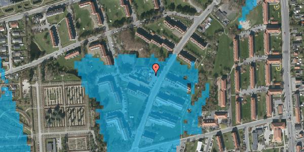 Oversvømmelsesrisiko fra vandløb på Arnold Nielsens Boulevard 24, 2650 Hvidovre