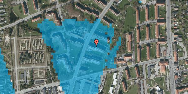 Oversvømmelsesrisiko fra vandløb på Arnold Nielsens Boulevard 25, 2. tv, 2650 Hvidovre