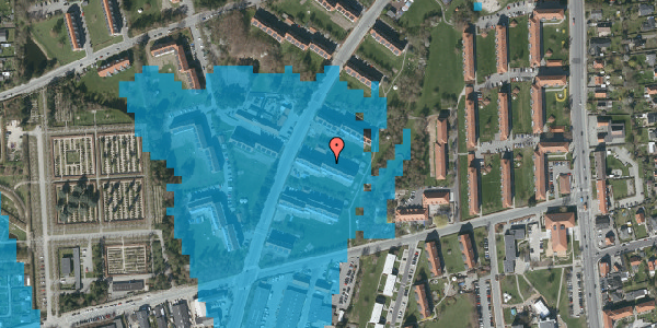 Oversvømmelsesrisiko fra vandløb på Arnold Nielsens Boulevard 27, 1. th, 2650 Hvidovre