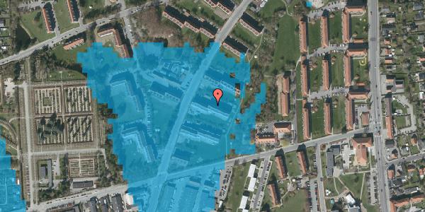 Oversvømmelsesrisiko fra vandløb på Arnold Nielsens Boulevard 27, 2. th, 2650 Hvidovre