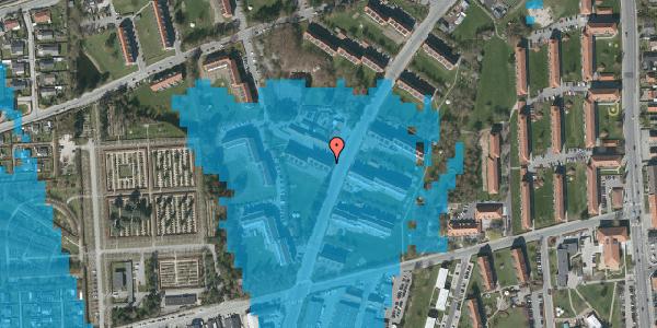 Oversvømmelsesrisiko fra vandløb på Arnold Nielsens Boulevard 28, 2. tv, 2650 Hvidovre