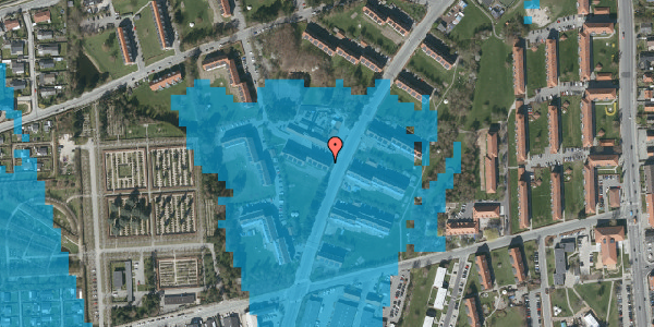 Oversvømmelsesrisiko fra vandløb på Arnold Nielsens Boulevard 28, 3. th, 2650 Hvidovre