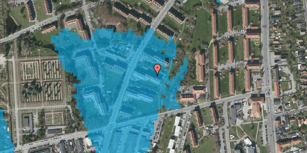 Oversvømmelsesrisiko fra vandløb på Arnold Nielsens Boulevard 29, 1. th, 2650 Hvidovre