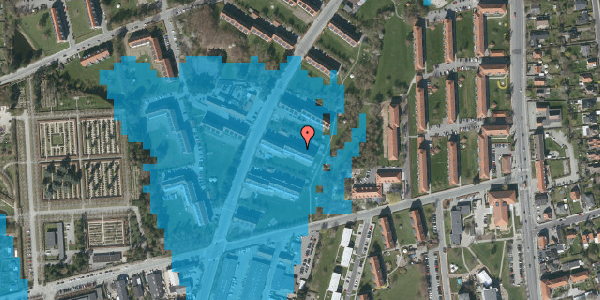Oversvømmelsesrisiko fra vandløb på Arnold Nielsens Boulevard 29, 2. tv, 2650 Hvidovre