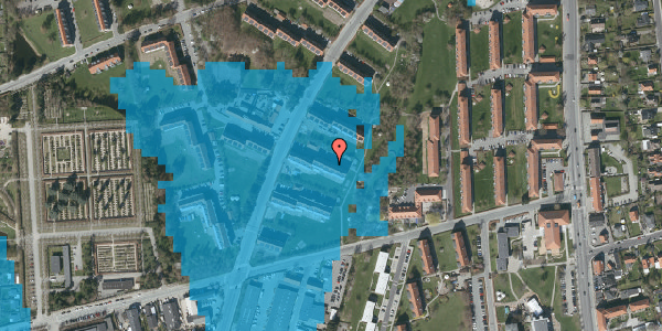 Oversvømmelsesrisiko fra vandløb på Arnold Nielsens Boulevard 29, 3. tv, 2650 Hvidovre
