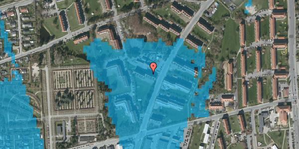 Oversvømmelsesrisiko fra vandløb på Arnold Nielsens Boulevard 30, 2. th, 2650 Hvidovre