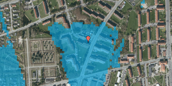 Oversvømmelsesrisiko fra vandløb på Arnold Nielsens Boulevard 30, 2. tv, 2650 Hvidovre