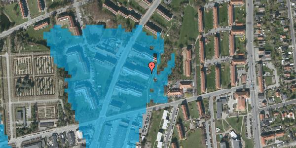 Oversvømmelsesrisiko fra vandløb på Arnold Nielsens Boulevard 31, 2. th, 2650 Hvidovre