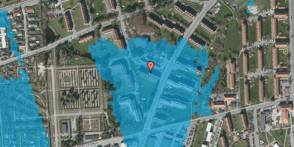 Oversvømmelsesrisiko fra vandløb på Arnold Nielsens Boulevard 32, 2. tv, 2650 Hvidovre