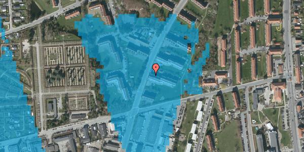 Oversvømmelsesrisiko fra vandløb på Arnold Nielsens Boulevard 33, 2. tv, 2650 Hvidovre