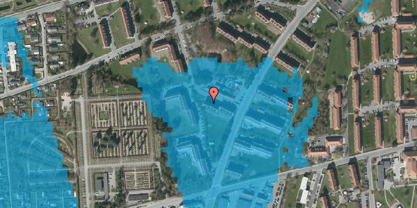 Oversvømmelsesrisiko fra vandløb på Arnold Nielsens Boulevard 34, st. tv, 2650 Hvidovre