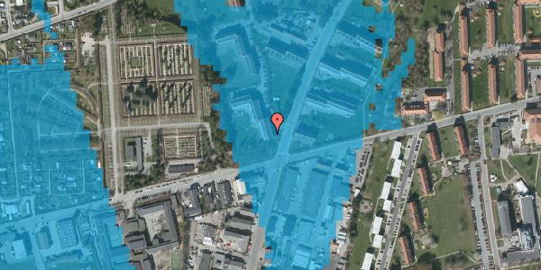 Oversvømmelsesrisiko fra vandløb på Arnold Nielsens Boulevard 36, 2. th, 2650 Hvidovre