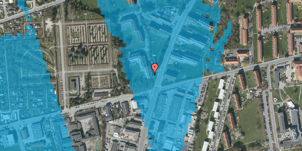 Oversvømmelsesrisiko fra vandløb på Arnold Nielsens Boulevard 36, 2. tv, 2650 Hvidovre