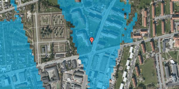 Oversvømmelsesrisiko fra vandløb på Arnold Nielsens Boulevard 36, 3. th, 2650 Hvidovre