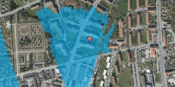 Oversvømmelsesrisiko fra vandløb på Arnold Nielsens Boulevard 37, 2. tv, 2650 Hvidovre