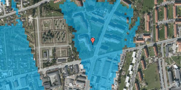 Oversvømmelsesrisiko fra vandløb på Arnold Nielsens Boulevard 38, 2. tv, 2650 Hvidovre