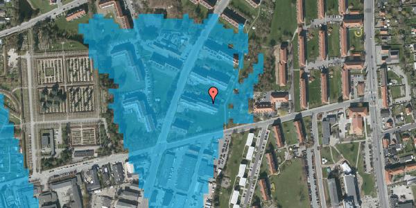 Oversvømmelsesrisiko fra vandløb på Arnold Nielsens Boulevard 39, st. tv, 2650 Hvidovre