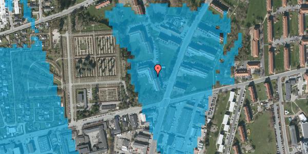 Oversvømmelsesrisiko fra vandløb på Arnold Nielsens Boulevard 40, 1. th, 2650 Hvidovre