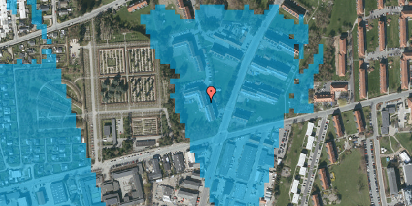 Oversvømmelsesrisiko fra vandløb på Arnold Nielsens Boulevard 40, 2. th, 2650 Hvidovre