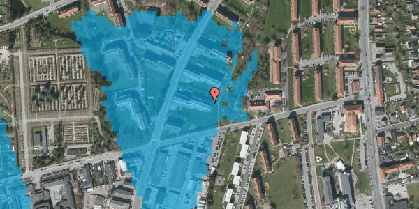 Oversvømmelsesrisiko fra vandløb på Arnold Nielsens Boulevard 41, 2. th, 2650 Hvidovre