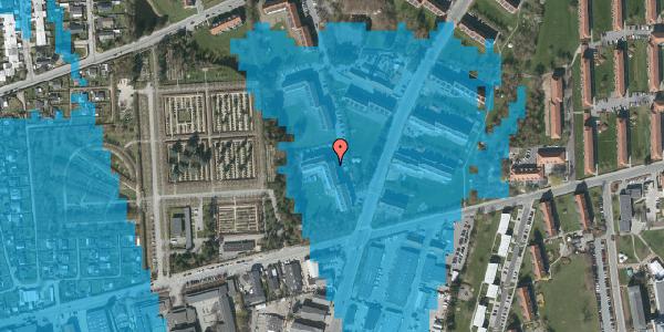 Oversvømmelsesrisiko fra vandløb på Arnold Nielsens Boulevard 42, 2. th, 2650 Hvidovre