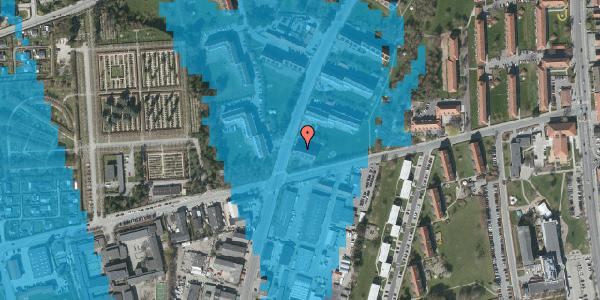 Oversvømmelsesrisiko fra vandløb på Arnold Nielsens Boulevard 43, 2. th, 2650 Hvidovre