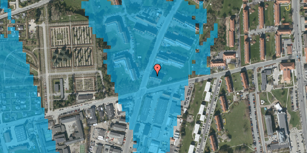 Oversvømmelsesrisiko fra vandløb på Arnold Nielsens Boulevard 43, 2. tv, 2650 Hvidovre