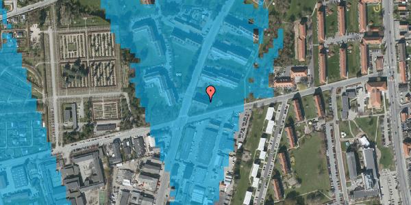 Oversvømmelsesrisiko fra vandløb på Arnold Nielsens Boulevard 45, st. tv, 2650 Hvidovre