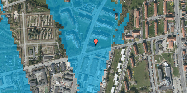 Oversvømmelsesrisiko fra vandløb på Arnold Nielsens Boulevard 45, 1. th, 2650 Hvidovre
