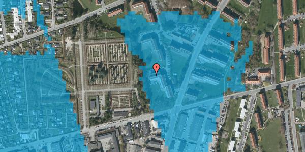 Oversvømmelsesrisiko fra vandløb på Arnold Nielsens Boulevard 46, 1. th, 2650 Hvidovre