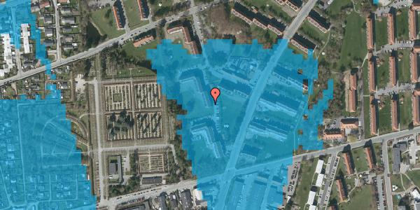 Oversvømmelsesrisiko fra vandløb på Arnold Nielsens Boulevard 48, st. tv, 2650 Hvidovre