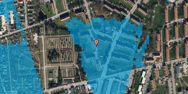 Oversvømmelsesrisiko fra vandløb på Arnold Nielsens Boulevard 48, 2. th, 2650 Hvidovre