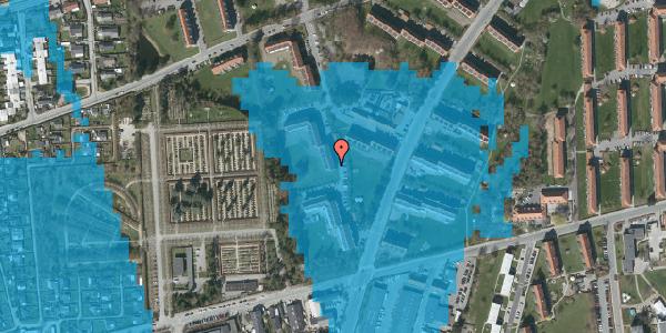 Oversvømmelsesrisiko fra vandløb på Arnold Nielsens Boulevard 48, 3. th, 2650 Hvidovre