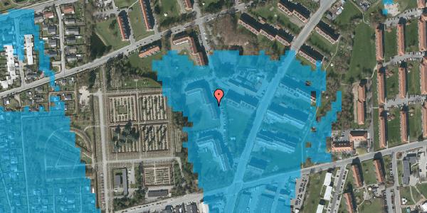 Oversvømmelsesrisiko fra vandløb på Arnold Nielsens Boulevard 50, st. tv, 2650 Hvidovre