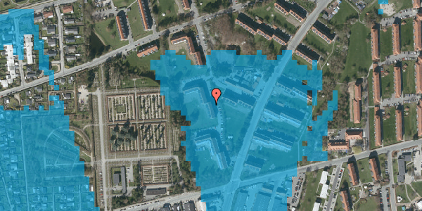 Oversvømmelsesrisiko fra vandløb på Arnold Nielsens Boulevard 50, 3. tv, 2650 Hvidovre