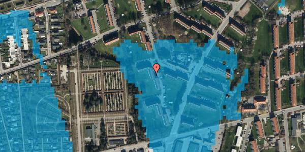 Oversvømmelsesrisiko fra vandløb på Arnold Nielsens Boulevard 52, 3. th, 2650 Hvidovre